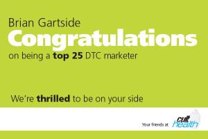 Brian Gartside Congrats ad